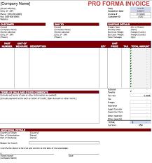 proforma invoice template free invoice templat
