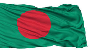 Green Red And White Flag Bangladesh Flag Realistic Animation Isolated On White Seamless