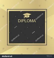 graduation cap frame graduation cap gold frame stock vector 644065363