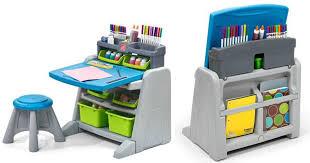 Step Two Art Desk Kohl U0027s Cardholders Step2 Flip U0026 Doodle Easel Desk W Stool U0026 Bins