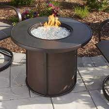Patio Table With Firepit by The Outdoor Greatroom Company Stonefire Gas Fire Pit Table