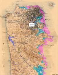 San Francisco City Map by San Francisco Historical Creek Map