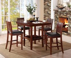 homelegance galena 5 piece pack counter height dining set warm