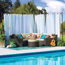 Pool Screen Privacy Curtains Outdoor Curtain Rod With Post Set Improvements Catalog
