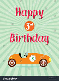 vintage classic old car happy 3rd stock vector 385992241