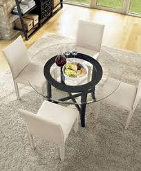 Round Kitchen Tables Classic Glass Round Table Dining Room Set Dining Room