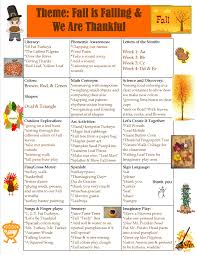 preschool fall and thanksgiving theme sun moon learning