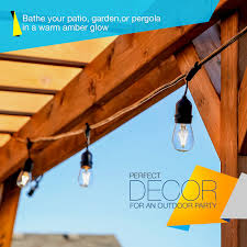 Outdoor Led Patio String Lights by Brightech Store Brightech Ambience Pro Led Outdoor Weatherproof