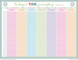 weekly agenda template word free sample templates
