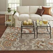 Orange And Brown Area Rugs 5 U00272