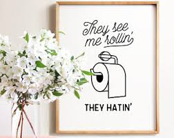 Wall Decor Bathroom Bathroom Wall Art Etsy
