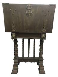 Secretary Desk Antique Spindle Leg Ornate Metal Secretary Desk Chairish