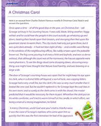 a christmas carol u2013 printable comprehension worksheets for kids