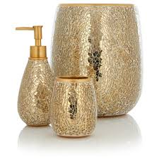 Cracked Glass Bathroom Accessories Gold Crackle Glass Bathroom Accessories Bathroom Accessories