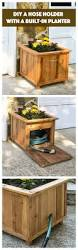 diy hose hiding outdoor planter an easy project for every yard