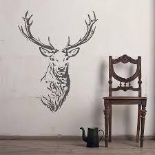 stag head wall decoration nz in deer head wall decor 1000x878