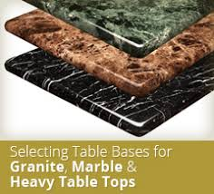 table legs for marble top table bases tablebases com quality table bases metal table legs