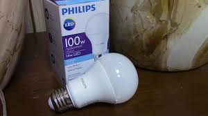 review philips led light bulb 100w youtube