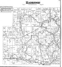 Brown Line Map Vinton County Ohio Township Maps