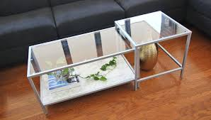 how to make over your ikea coffee table with spray paint clossette