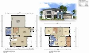 house design with floor plan 3d double storey residential house plans inspirational fascinating