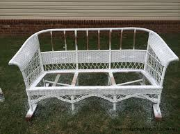 Spray Paint Wicker Patio Furniture - wicker redo with a fun little story too easy peasy pleasy