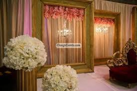 wedding backdrop linen pink orchid backdrop in large gold framens for reception party