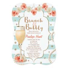 chagne brunch invitations brunch and shower invitations announcements zazzle