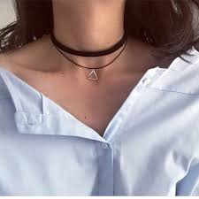 necklaces for n757 multilayer chokers necklaces for women triangle geometric