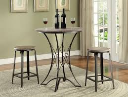 black counter height dining 3 pc set coaster 100006