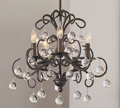 Crystal And Bronze Chandelier Bellora Chandelier Pottery Barn