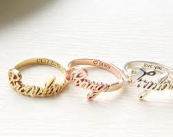 name ring etsy