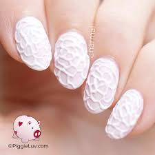 piggieluv 3d lace rose nail art