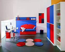 decoration simple study room for kids with grey wall color boy
