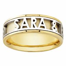 personalized wedding band 14k yellow gold name personalized band 6mm 3003515 shop at