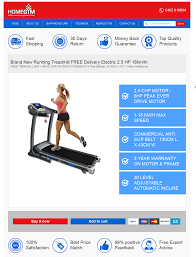 custom ebay product listing template for home gym equipment