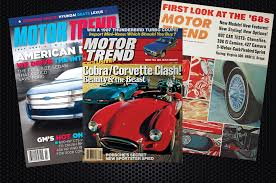 rearview motor trend in july 1967 1987 and 2007 motor trend