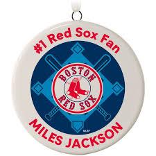 boston sox personalized ceramic ornament personalized