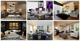 living room zebra print interior design