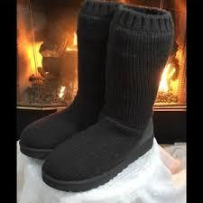 ugg boots sale secret 38 ugg shoes nwob ugg capra black knit ribbed sweater boots