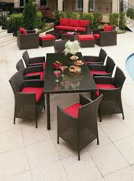 Outdoor Wicker Dining Set Grand Resort Osborn 9 Piece Rectangle Dining Set Featuring