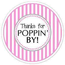 Stickers For Favors by 36 Baby Shower Labels Pink Stripes Thanks For