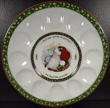 christmas deviled egg plate portmeirion studio a christmas story deviled egg plate platter