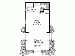 house plans with guest house 1 bedroom guest house plans homes floor plans