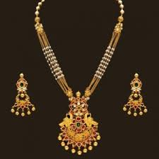 necklace gold pearl images Necklace gold antique pearl necklace set online shopping india jpg