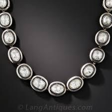 rose necklace diamond images 24 carat rose cut diamond necklace russian jpg