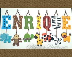 jungle nursery letters 7 letter name individually