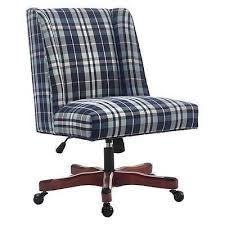 linon home decor products inc walt walnut gray bar stool linon 178404bpld01u draper office chair blue plaid dark walnut