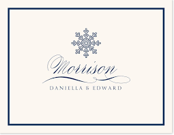 wedding gift thank you notes snowflake drawing custom thank you notes personalized thank you