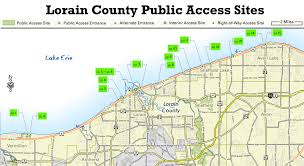 Map Of Sandusky Ohio by Ohio Dnr Lake Erie Access Guide Lorain County